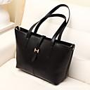 Women 's PU Shopper Shoulder Bag/Tote - Black