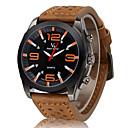 v6 herremode sort urskive læderrem militær afslappet ur
