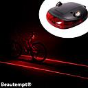 Luces para bicicleta , Luz Trasera - 3 Modo Lumens Resistente a Golpes / A Prueba de Agua AAA Batería Ciclismo/Bicicleta Negro / Rojo