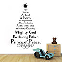 Tree English Creative Wall Decals Removable Decorative Wall Stickers