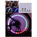 3PCS Copious  Color Changing Bike Hot Wheels Bike Motorcycle Light Valve / Gas Nozzle Lights Taillights