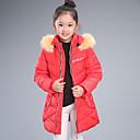 Girl's Long Hoodie Down Coat