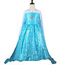 Girl's Beaded Organza Maxi Elsa Princess Dress