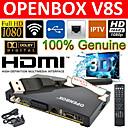 V8 openbox fullt hd1080p freesat pvr tv satellitmottagare rutan wifi + nätverkskort