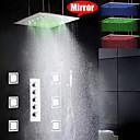 Brusehaner - Moderne - LED / Regnbruser / Sidespray / Håndbruser inkluderet - Messing (Krom)