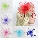 Lady's Linen Feather Fascinator Hat Headband for Wedding Party Headband