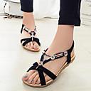 Sandaalit - Tasapohja - Naisten kengät - Tekonahka - Musta / Punainen / Beesi - Puku - Comfort