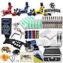 Great Tattoo Kit 3 Rotary Machine New Design Power box