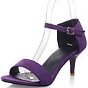 Women's Shoes Kitten Heel D'Orsay & Two-Piece / Open Toe Sandals Dress / Casual Black / Green / Purple