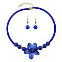 Rhinestone Choker Necklace and Earrings Fashion Jewelry Set