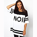 Women's Street chic / Active Print Shift Dress,Round Neck Mini Polyester / Spandex