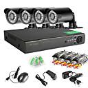 8-kanals 960h Network DVR 4 stk 1000tvl ir utendørs CCTV overvåkingskameraer system