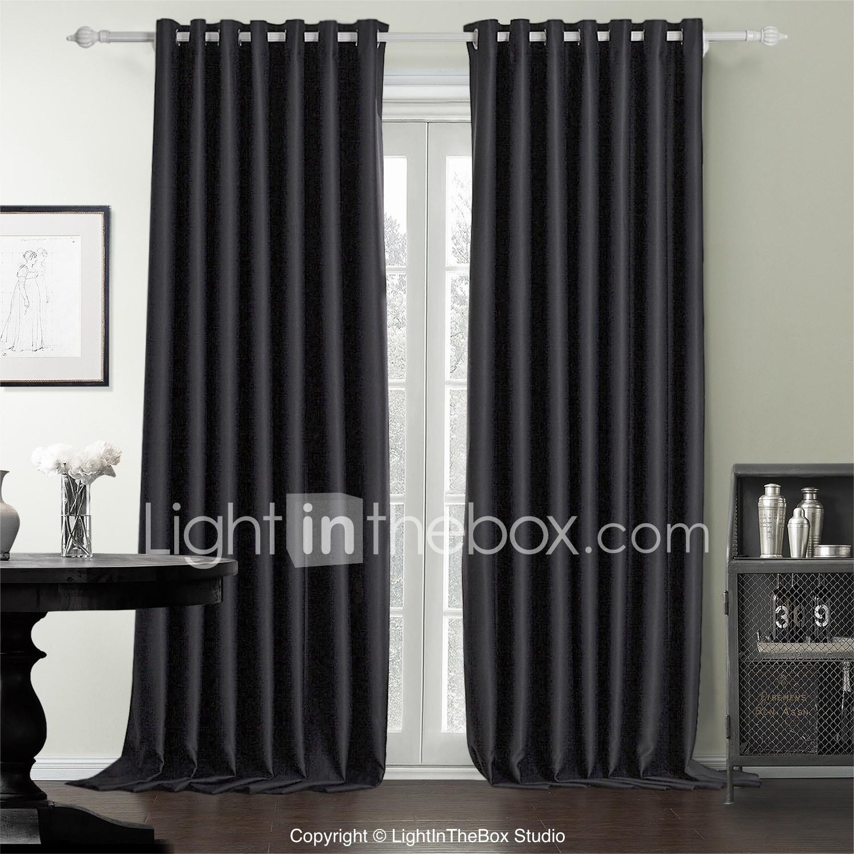 Twee panelen moderne stevige zwarte slaapkamer polyester ...