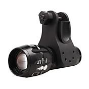 LED懐中電灯 / 自転車用ヘッドライト LED サイクリング 焦点調整可 単四電池 100 ルーメン バッテリー サイクリング / 多機能-照明