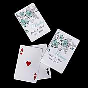 osobní hrací karty - zelená květiny