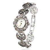 Dámské Módní hodinky Náramkové hodinky japonština Křemenný Slitina Kapela Květiny Elegantní Stříbro Stříbrná