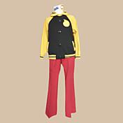 に触発さ ソウルイーター ブラックスター アニメ系 コスプレ衣装 コスプレスーツ カラーブロック 長袖 コート パンツ ヘッドピース 用途 男性用