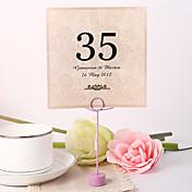 Perlový papír kartičky s číslem stolu Umělá taška