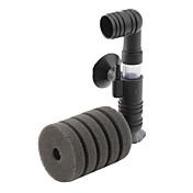 agua del acuario bajo nivel de ruido del filtro de doble esponja (12 cm x 9 cm x 4 cm)