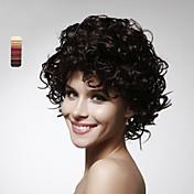 sin tapa corta de alta calidad sintética rizada peluca de pelo colores disponibles múltiples