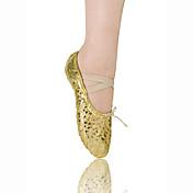 Non Přizpůsobitelné - Dámské / Dětské - Taneční boty - Balet - Koženka - Bez podpatku - Zlatá