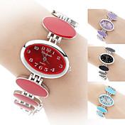 Mulheres Relógio de Moda Bracele Relógio Quartzo Banda Elegantes Preta Branco Vermelho Rosa Roxa Preto Roxo Vermelho Azul Rosa claro