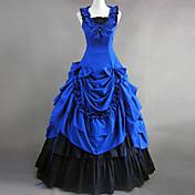 ワンピース/ドレス ゴスロリータ ヴィクトリアン コスプレ ロリータドレス ブルー パッチワーク ノースリーブ ロリータ ドレス ために コットン