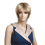 Sin tapón sintético de alta calidad a corto recto pelucas rubias