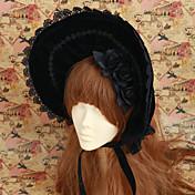 Accesorios lolita Gosurori Lolita Lolita Negro Accesorios de Lolita Tapa Sombrero Encaje por