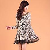 ZHI YUAN Perlas dos piezas como el vestido de pliegues (más colores)