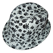 Fashion Skull Print Cotton Plstěný klobouk Klobouk