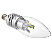 E12 3W 6x5630SMD 200-220LM 5800-6500Kナチュラルホワイトライトは蝋燭の球根(110-240V)のLED