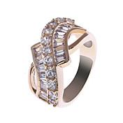 18 quilates de S & V Mujeres Rose chapado en oro circón anillo BBR-00285_1