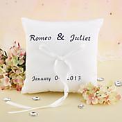 Personalizada elegante de la boda almohada anillo con la cinta