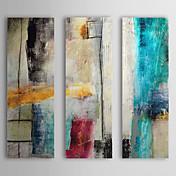 Pintada a mano Abstracto Vertical,Modern Estilo europeo Tres Paneles Pintura al óleo pintada a colgar For Decoración hogareña