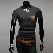 Hombres INMUR cuello redondo bordado de manga corta T-shirt