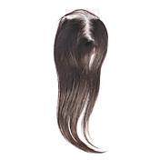 "12 ""cabello humano 100% Negro Silky Straight Hair Extension"