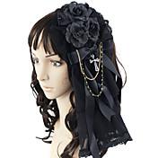 ジュエリー ゴスロリータ 帽子 プリンセス ロリータアクセサリー ヘッドピース 蝶結び ために レース サテン 人工宝石