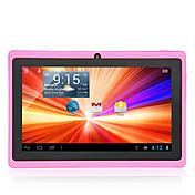 7 pulgadas 1024 * 600 a33 8gb androide 4.4 cámara dual de la tableta del wifi de la PC (colores clasificados)