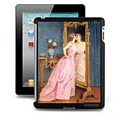 Patrón de efectos especiales 3D duro de la cubierta de la funda detrás para el iPad 2/3/4
