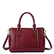 MEFAs Moderne Genuine Leather Tote / Umhängetasche (Red)