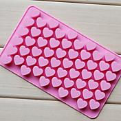 ハート形のチョコレートトレイを愛し、シリコーン55ホール(カラーrandoms)CM-87