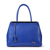 MEFAs Solid Color Genuine Leather Tote / Umhängetasche (blau)