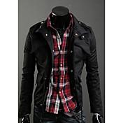 Shangduファッション厚みのコート(ブラック)