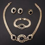 ジュエリーセット ファッション 結婚式 ラインストーン 模造ダイヤモンド 合金 ネックレス イヤリング・ピアス リング ブレスレット のために 結婚式 パーティー 誕生日 ウェディングギフト