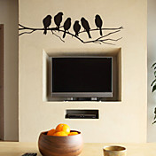 支店ウォールステッカーリムーバブルステッカー·壁用ブラック鳥