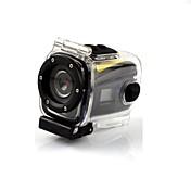 G328 Mini impermeable HD 720P 5.0 MP CMOS LCD del deporte del salto de la cámara de la videocámara DVR