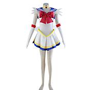 Inspirado por Sailor Moon Sailor Moon Anime Fantasias de Cosplay Ternos de Cosplay Patchwork Vestido Peça para Cabeça Colar Arco Para