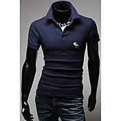 Tizelandメンズベーシック半袖ポロシャツTシャツ1055