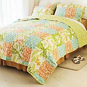 conjunto edredón huani®, 3 piezas de patrón de cuadros 100% algodón de estilo rústico colorido primavera